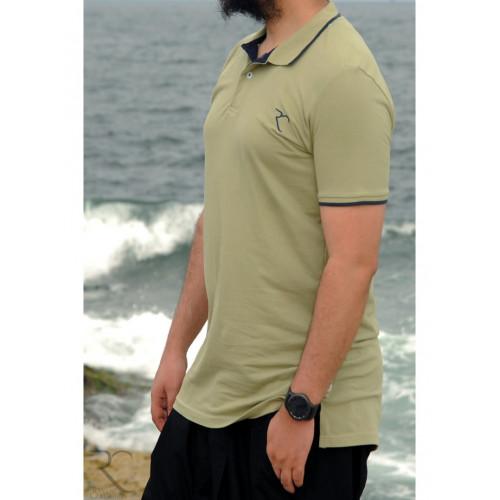 Polo Oversize 100% coton - Kaki Clair - Rayane