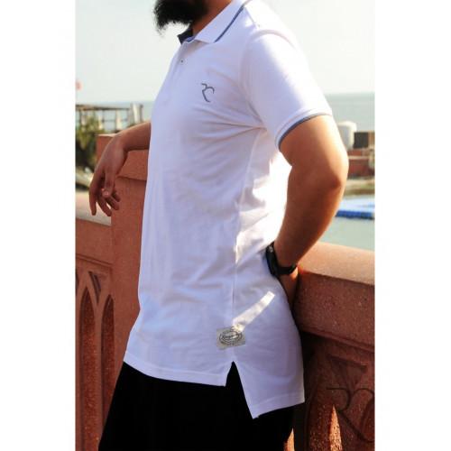Polo Oversize 100% coton - Blanc - Rayane