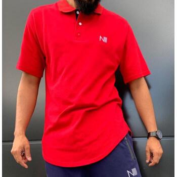POLO Iceberg Coton Piqué 100% Coton - Rouge - T-Shirt Oversize - Na3im