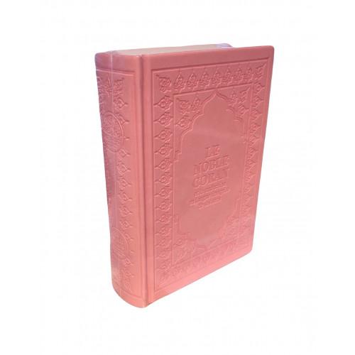 Le Saint Coran Rose Pâle - Arabe et Français - Format de Poche - Traduction Dr.Hamidoullah et Revue par l'Arabie Saoudite