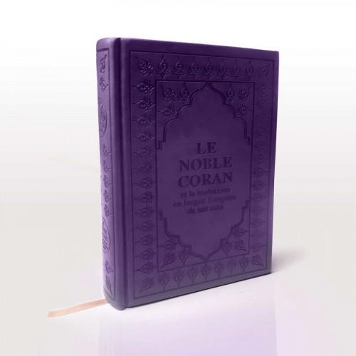 Le Saint Coran Violet - Arabe et Français - Format de Poche - Traduction Dr.Hamidoullah et Revue par l'Arabie Saoudite