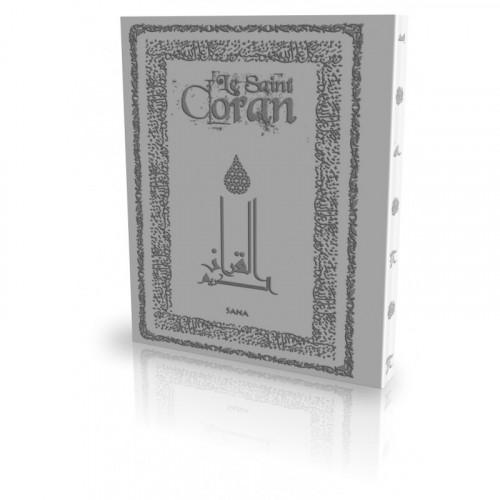 Le Coran - Arabe et Français - Couverture Daim Souple Gris Clair - Edition Sana