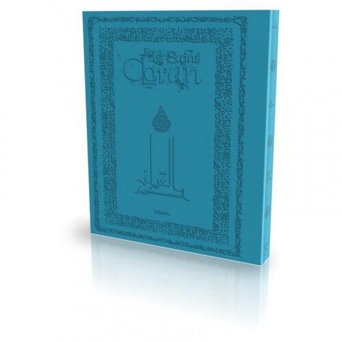 Le Coran - Arabe et Français - Couverture Daim Souple Turquoise - Edition Sana