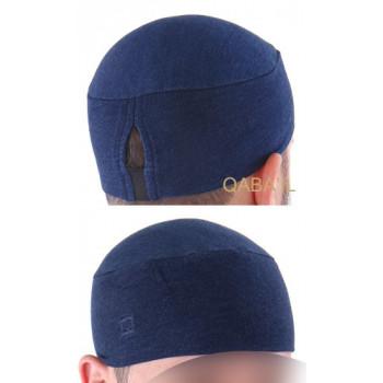 bonnet qaba'il bleu indigo