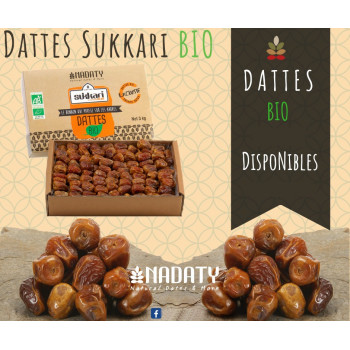 Dattes Sukkari BIO de Qassim de Médine - 3 kg - Nadaty