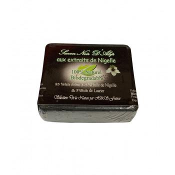 Savon Noir d'Alep - Extraits de Nigelle - 100% Naturel et Biodégradable - 100 gr