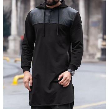 Qamis Jild court Qaba'il Noir