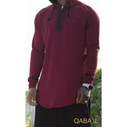Sweat Bordeaux Qaba'il : Etniz Oriental