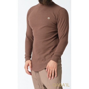 Pull Col Montant Qaba'il : Taupe
