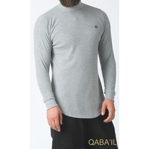 Pull Col Montant Qaba'il : Gris