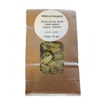 Feuille de Séné - Sana Makki - Tisane 100% Naturel - Sachet 50 gr