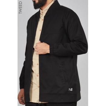 Veste NOIR Oversize - TWEED 100% Coton - Na3im