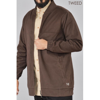 Veste MARRON Oversize - TWEED 100% Coton - Na3im