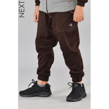 Sarouel Enfant Marron - Next 100% Coton - Na3im