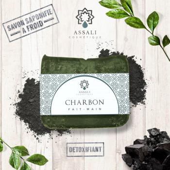 Savon Au Charbon - Artisanal, Fait Main - 100 gr - Assali
