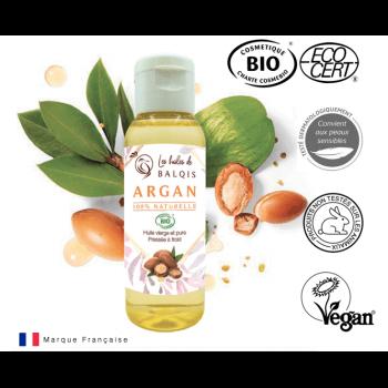 Huile d'Argan BIO - 50 ml - Les Huiles Balqis