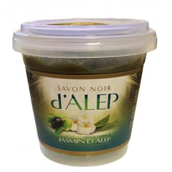 Savon Noir d'Alep au Jasmin - 100% Naturel et Biodégradable - 200 gr