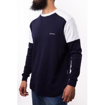 Sweat Premium Oversize - Bleu Marine et Blanc - Timssan