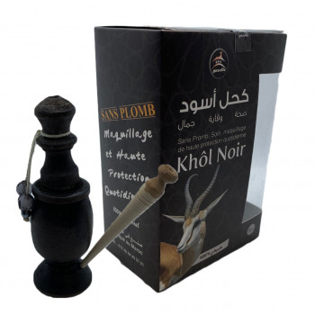 Khol Noir en Poudre d'Antimoine - Sans Plomb 100% Naturel - Khol Gazelle