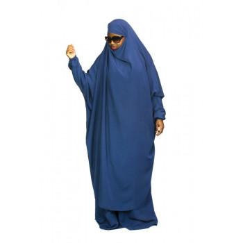 Jilbab 2P Jupe - Bleu Indigo 89 - Wool Peach - Jilbeb El Bassira