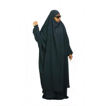Jilbab 2P Jupe - Vert Canard Foncé 68 - Wool Peach - Jilbeb El Bassira