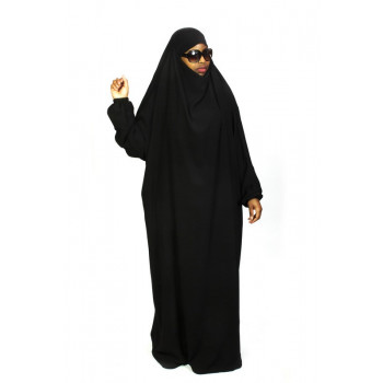 Jilbab 1P - Noir - Caviary - Jilbeb El Bassira