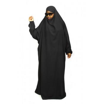 Jilbab 1P - Gris Anthracite 29 - Caviary - Jilbeb El Bassira