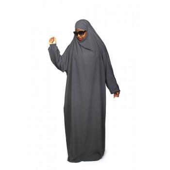 Jilbab 1P - Gris Souris 28 - Wool Peach - Jilbeb El Bassira