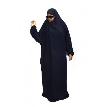 Jilbab 1P - Bleu Nuit 95 - Wool Peach - Jilbeb El Bassira