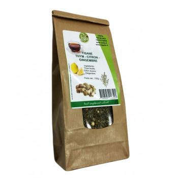 Thym, Citron, Gingembre - Tisane 100% Naturel - Chifa - Sachet 100 gr
