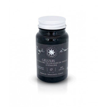 60 Gélules Végétales BIO à la Graine de Nigelle - Habachiya – Vitalité, Défenses Immunitaires et Tonus – Nigelle Source