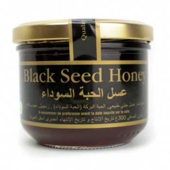 Miel de Nigelle avec Gingembre et Pollen d'Abeille - Habba Sawda - Black Seed Honey - River Of Honey - 300 gr