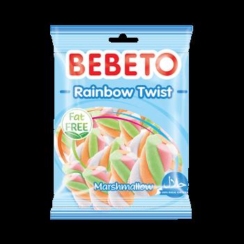 Bonbons Marshmallow - Rainbaw Twist - Sans Gras - Bebeto - Halal - Sachet 135 gr