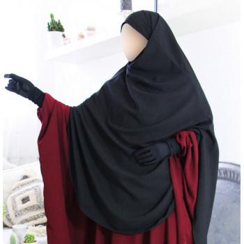 Hijab / Khimar Extra Long Hafsa - Noir - Umm Hafsa