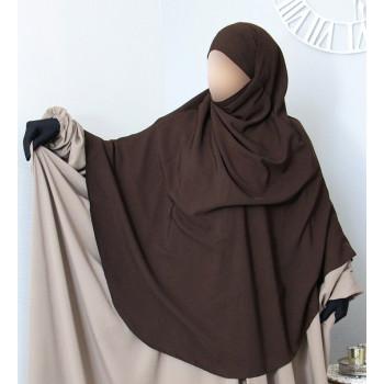 Hijab / Khimar Extra Long Hafsa - Marron - Umm Hafsa