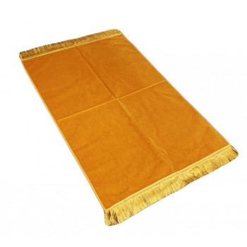 Tapis de Prière de Luxe - Couleur Moutarde Unis - Adulte - 73 x 110 cm