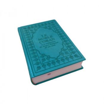 Le Saint Coran - Arabe et Français - Couverture Turquoise - Haute Gamme 15 x 22 cm - Simili-Daim