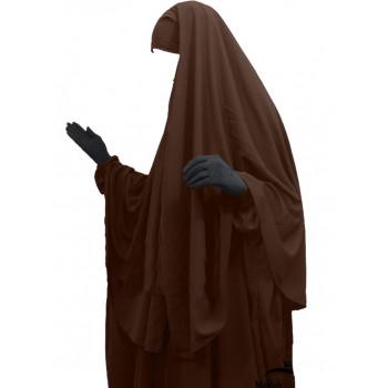 Hijab / Khimar Cape - Marron - Umm Hafsa