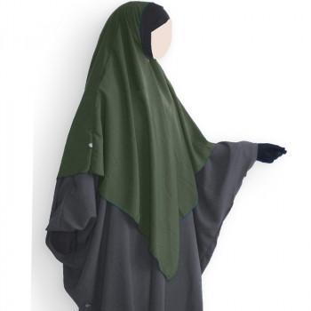 Hijab / Khimar et Bandeau Tube Lycra - Kaki - Umm Hafsa