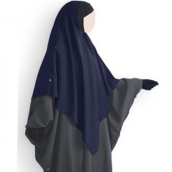 Hijab / Khimar et Bandeau Tube Lycra - Bleu Nuit - Umm Hafsa