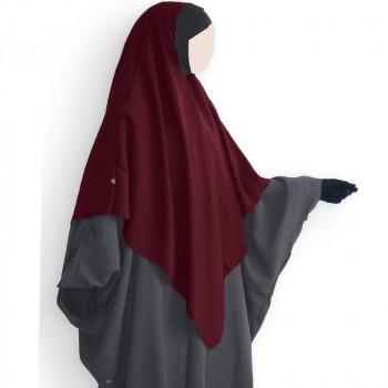 Hijab / Khimar et Bandeau Tube Lycra - Bordeaux - Umm Hafsa