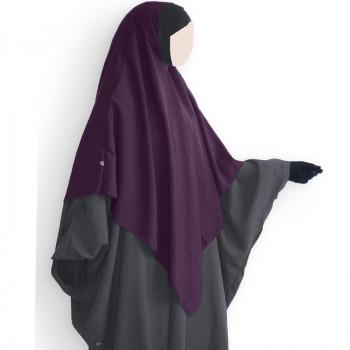 Hijab / Khimar et Bandeau Tube Lycra - Prune - Umm Hafsa