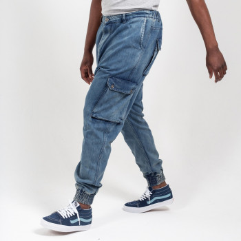 Saroual Pantalon Jeans Cargo Blue Dirty - Usual Fit - DC Jeans