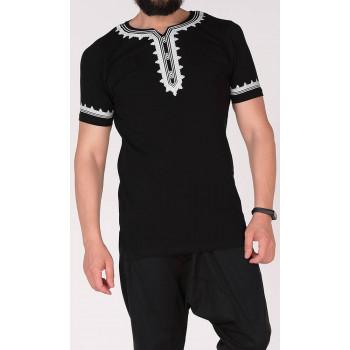 T-Shirt Etniz Noir - Qaba'il : manches courtes