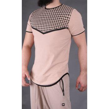 Tshirt Keffieh Beige Qaba'il : manches courtes