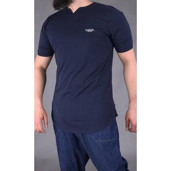 Tshirt Level Bleu Nuit Qaba'il : manches courtes