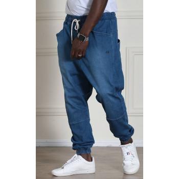 Sarouel Jean Stretch - Bleu Clair - Qaba'il : Coupe Djazairi - Pants Léger