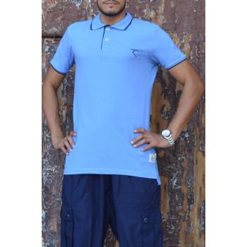 Polo Oversize 100% coton - Bleu - Rayane
