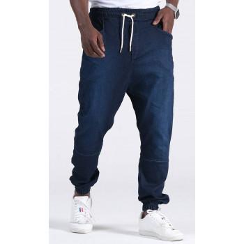 Sarouel Jean Stretch - Bleu Brut - Qaba'il : Coupe Djazairi - Pants Léger