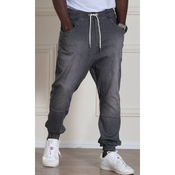 Sarouel Jean Stretch - Gris - Qaba'il : Coupe Djazairi - Pants Léger